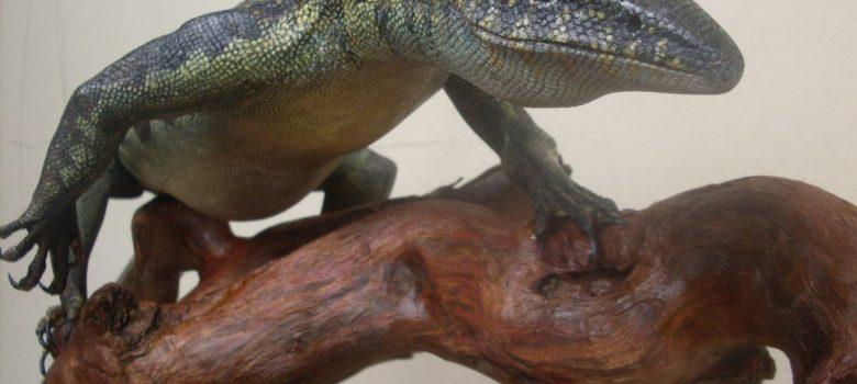 milan vuckovic handmade varanaus niloticus austringer art