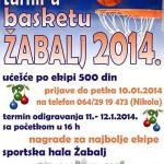 Новогодишњи турнир у баскету Жабаљ 2014