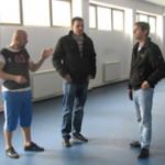 Опремање спортске хале у Жабљу