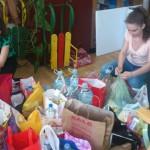 Прикупљање хуманитарне помоћи у средњој школи у Тителу