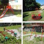 Дечије игралиште Предшколској установи Плави чуперак у Тителу
