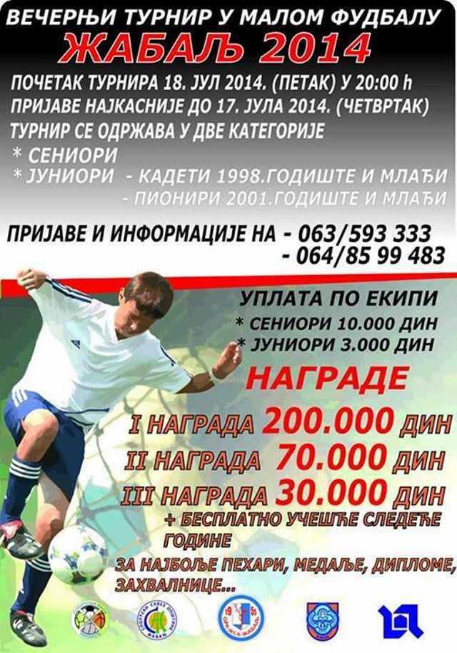 zabalj turnir mali fudbal