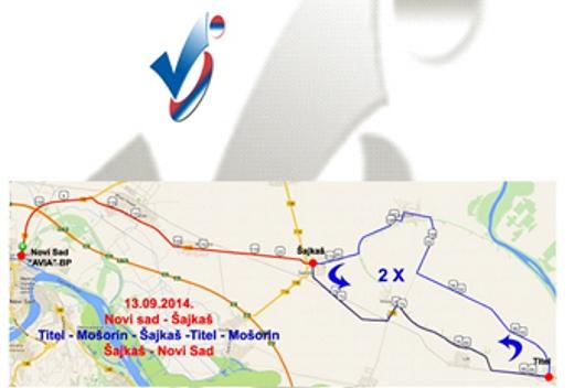 biciklisticka trka kroz vojvodinu opstina titel
