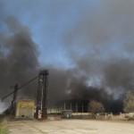 Пожар у фабрици у Тителу
